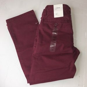 Kids gap color burgundy size 7 regular